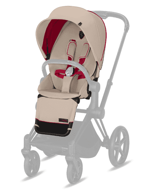 Cybex Ткань сиденья Seat Pack PRIAM Ferrari Silver Grey