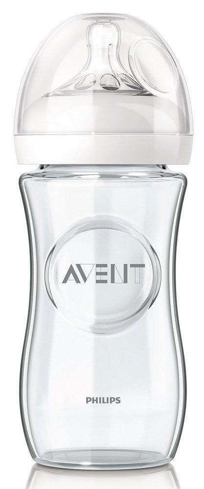 PHILIPS AVENT бутылочка для кормления 240 мл, 1 шт, серия NATURAL, Стекло