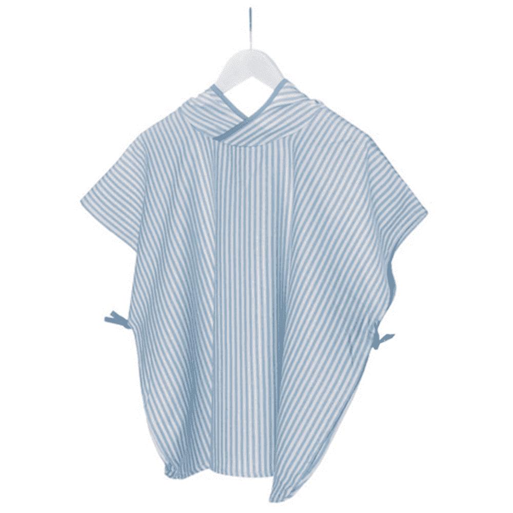 KIPKEP полотенце-пончо М  3-5 лет, нежно-голубой