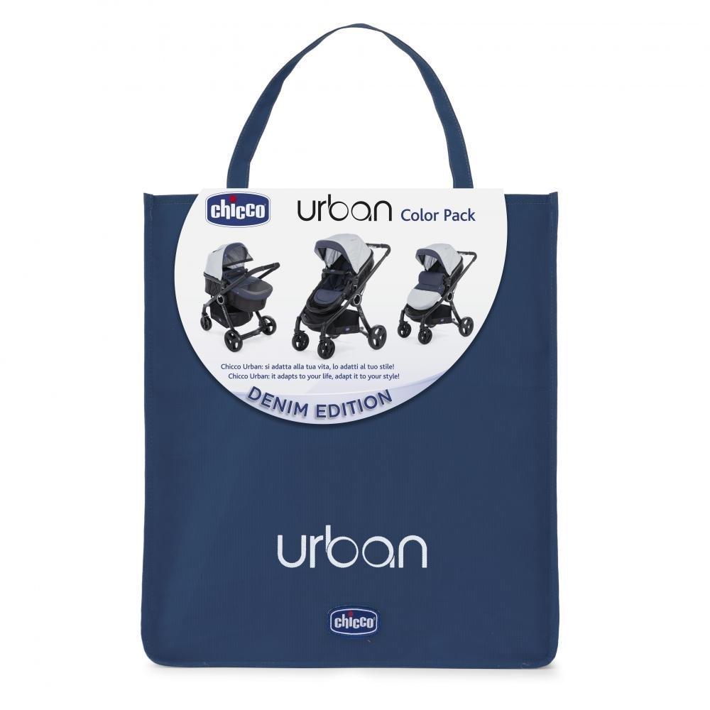 Купить Аксессуары для колясок, Chicco комплекты Urban, CHICCO Аксессуары к коляске URBAN Denim (капюшон, вкладыш, накидка для ног, набор Comfort Kit)