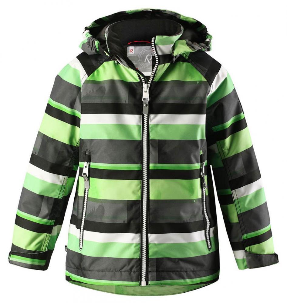 Купить Одежда для весны и осени, REIMA Куртка Reimatec SCHIFF серая с салатовым р.104