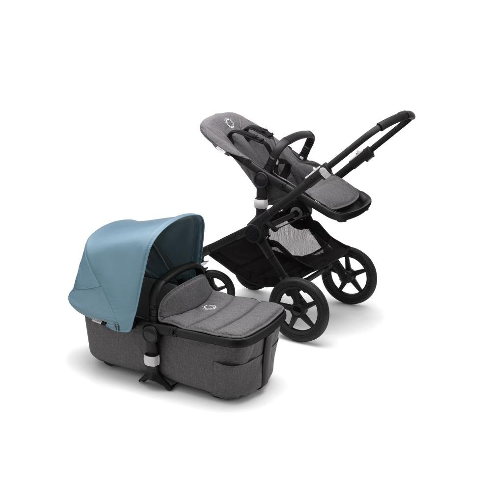Bugaboo Fox2 коляска 2 в 1 Black/ Grey Melange/ Vapor Blue