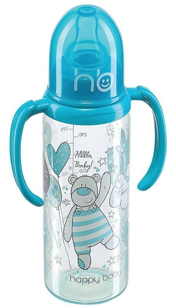 HAPPY BABY New Blue Бутылочка с двумя силиконовыми сосками 250 мл