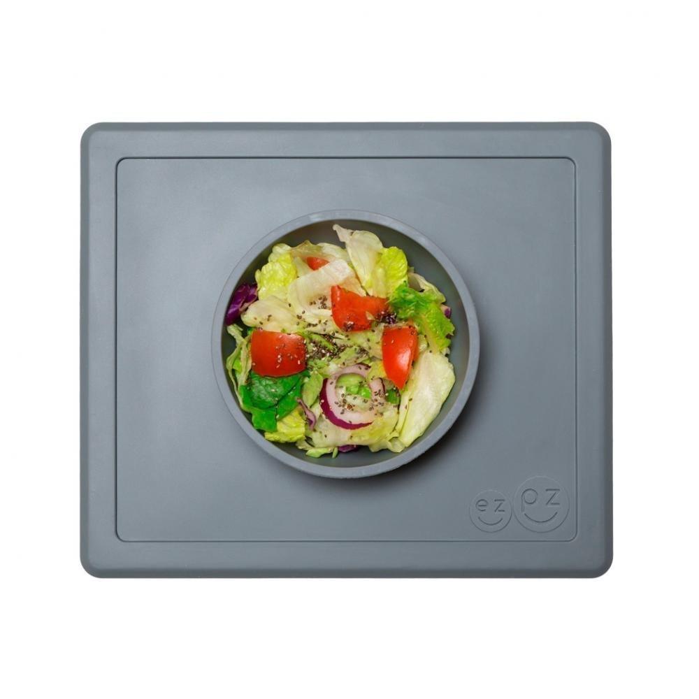 EZPZ Тарелка с подставкой Happy Bowl, серый