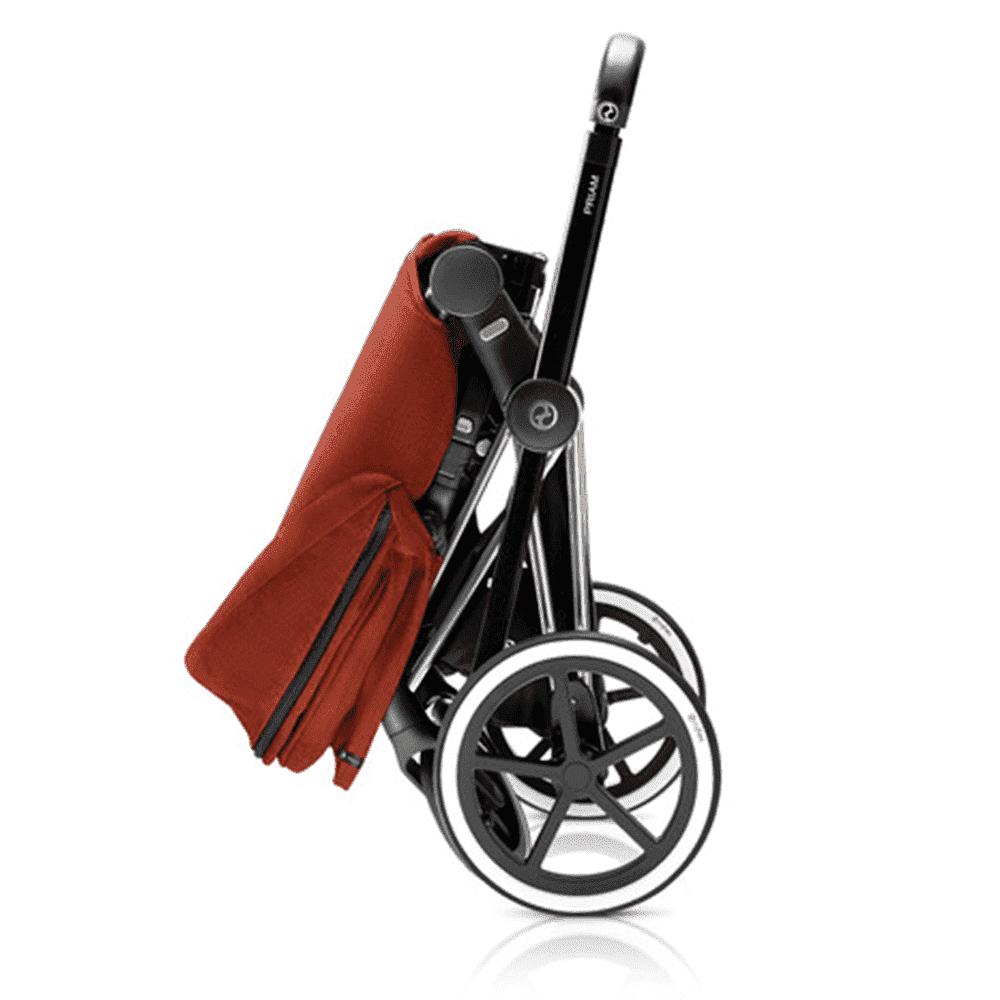 CYBEX коляска прогулочная PRIAM, шасси Matt Black с колесами Trekking, Butterfly от olant-shop.ru