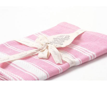 KIPKEP полотенце 100*50 см (розовый с белыми полосками)