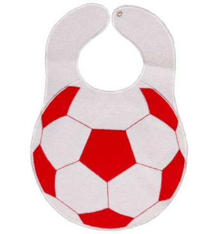 SEVI BABY нагрудник на липучке Футбольный мяч, красный