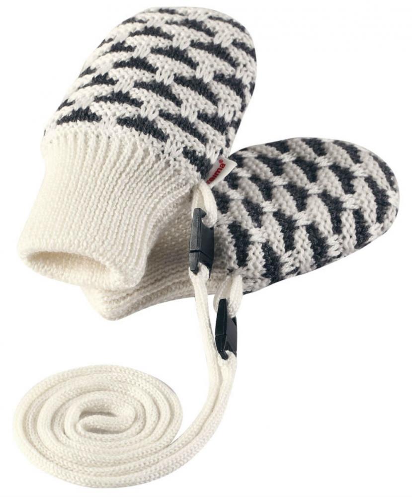 Купить Шапки, варежки, перчатки, REIMA варежки шерстяные UNINEN белые р.6-18мес.