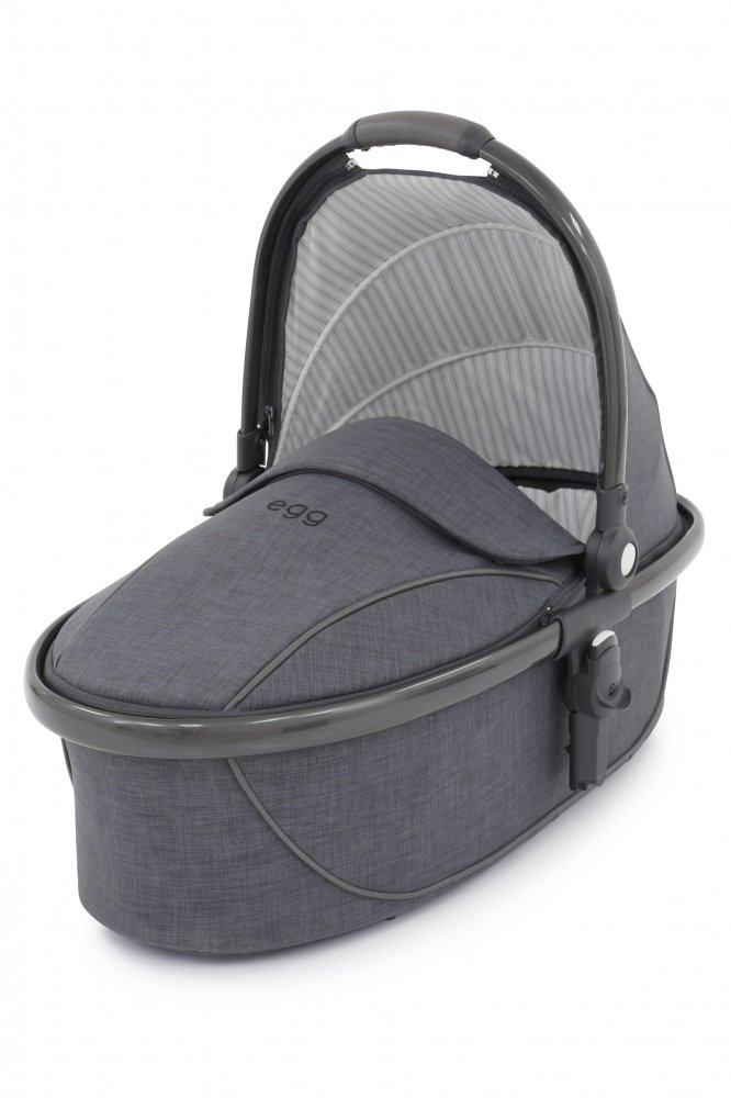 Egg Люлька Carrycot Quantum Grey and Gun Metal Frame