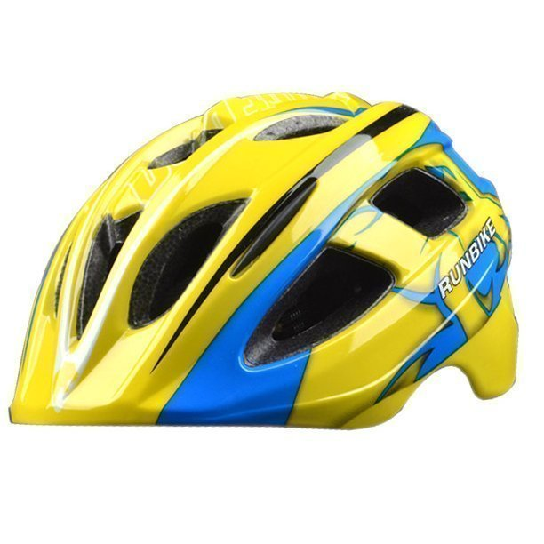 RUNBIKE шлем сине-желтый,  размер М (52-56 см)