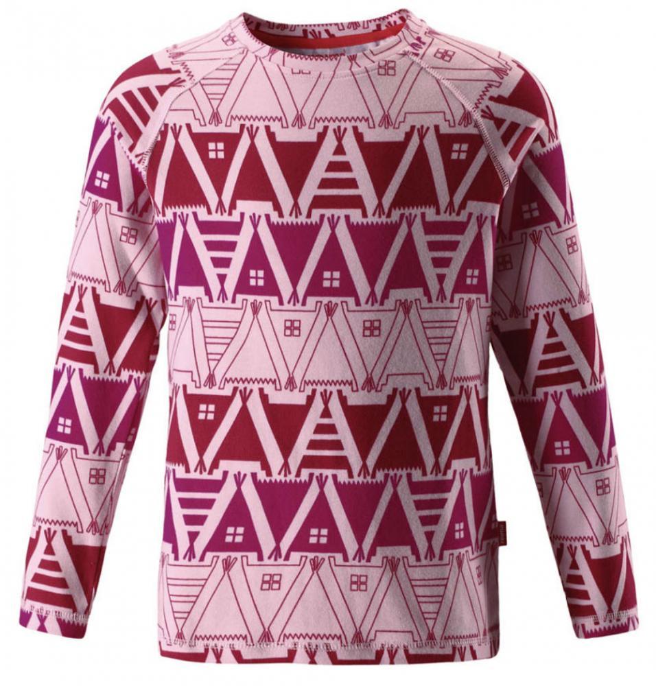 Reima футболка с длинным рукавом tiptoe розовая р.140