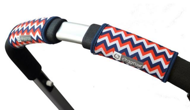 CityGrips Чехлы на ручки для универсальной коляски  Chevron tri-color