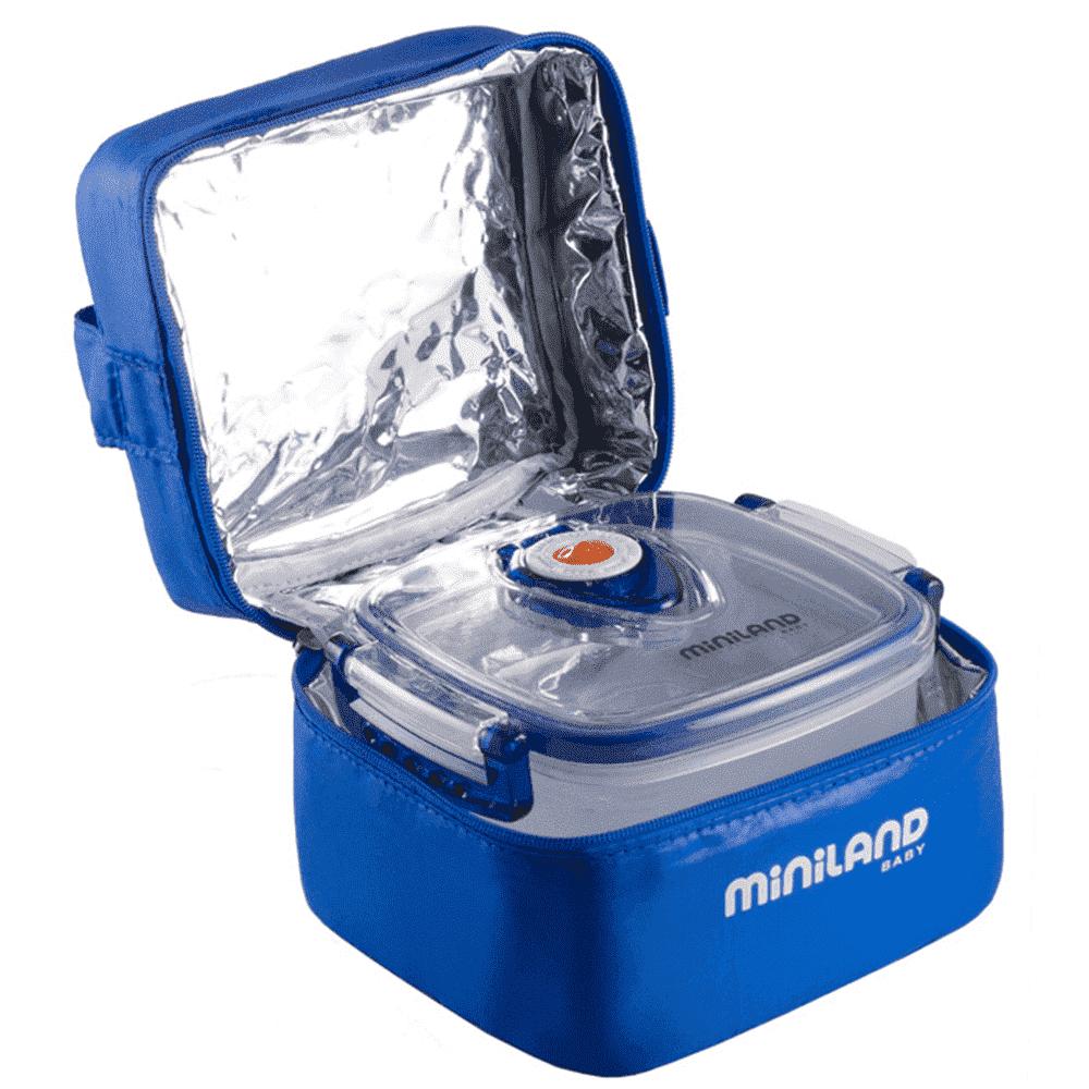 MINILAND термосумка с 2 вакуумными контейнерами, синяя