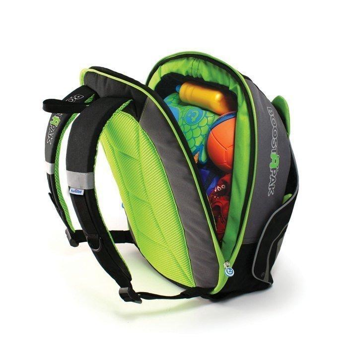 TRUNKI автокресло-рюкзак BoostApak черно-зеленый от olant-shop.ru