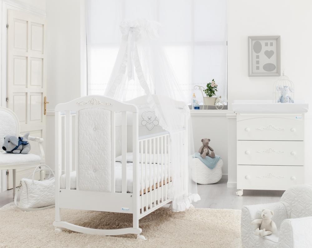 AZZURRA кровать детская CARISMA WHITE