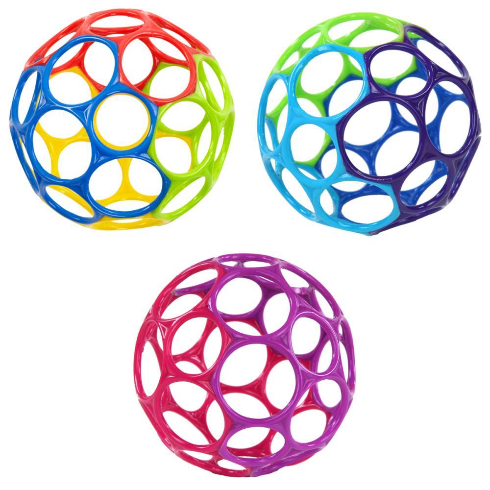 Купить Первые игрушки, погремушки, O-BALL мячик «Oball» от 0 мес. в ассортименте 10см