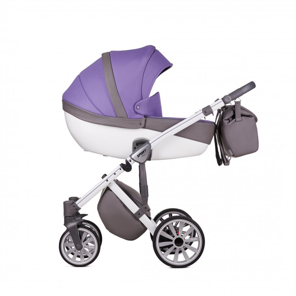 Купить Коляски для новорожденных, ANEX Коляска 3 в 1 SPORT Q1 (Sp21) ultra violet