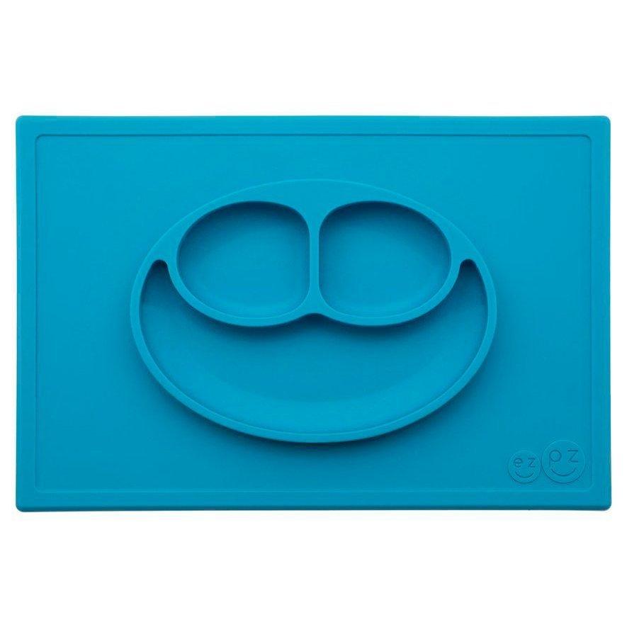 EZPZ Тарелка с подставкой Happy Mat, синий