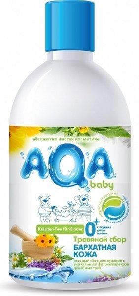 AQA BABY травяной сбор для купания малышей Бархатная кожа, 300 мл