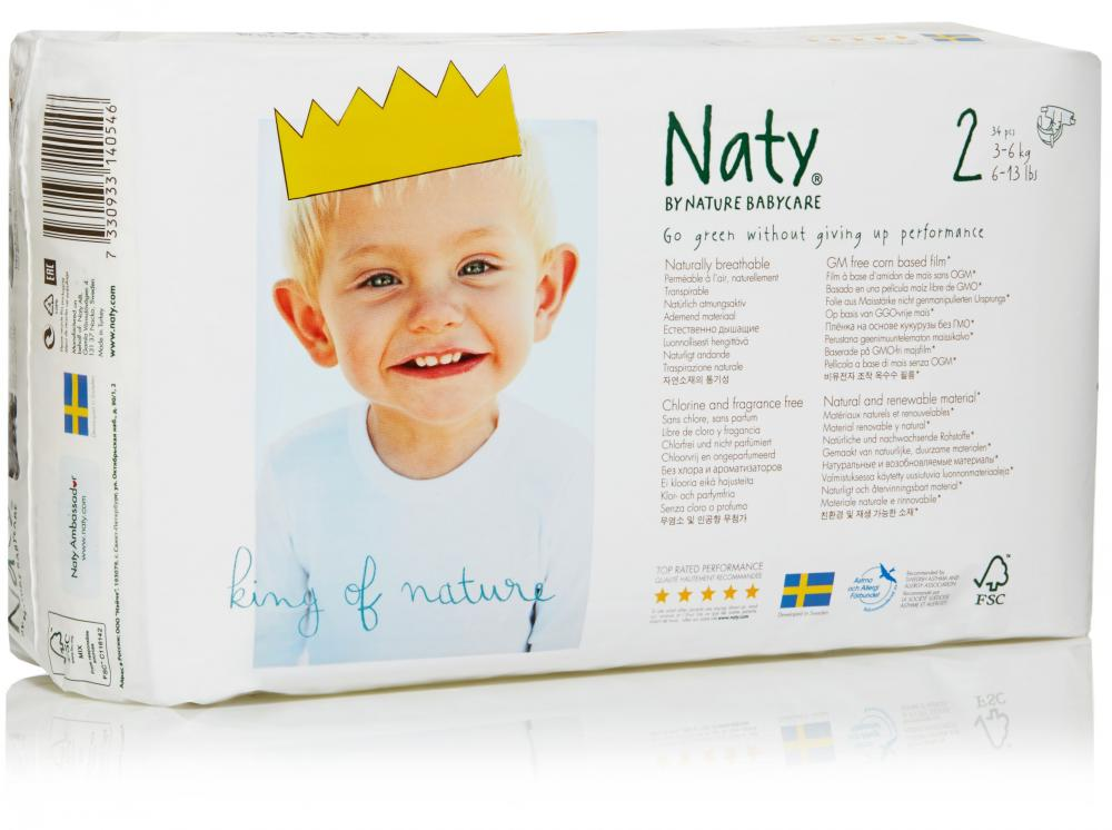 Подгузники и одноразовые пеленки NATY подгузники