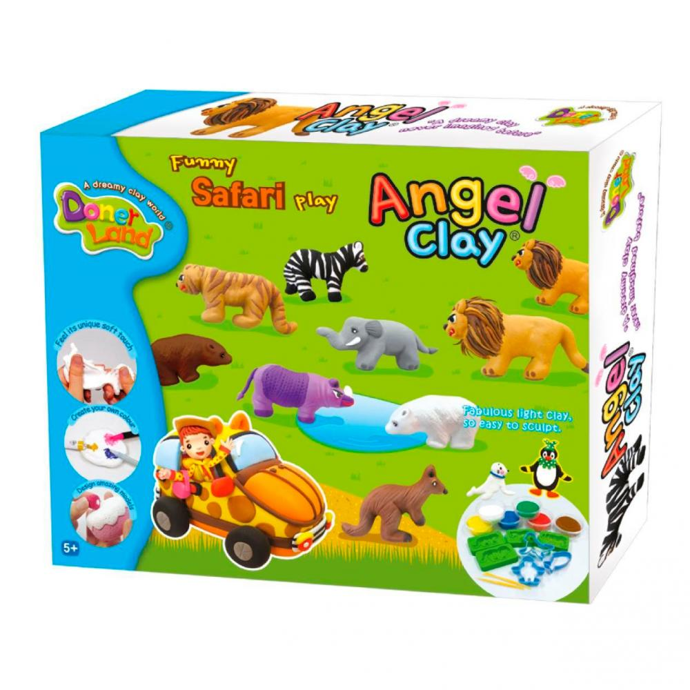 "ANGEL CLAY Игровой набор для творчества ""Funny Safari"" AA14021"