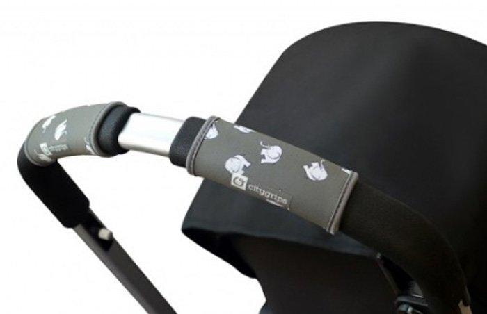 CityGrips Чехлы на ручки для универсальной коляски Grey elephant CITYGRIPS_чехол универсальный