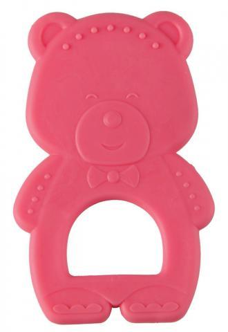 HAPPY BABY  Прорезыватель термоэластичный TEETHER TEDDY BEAR red