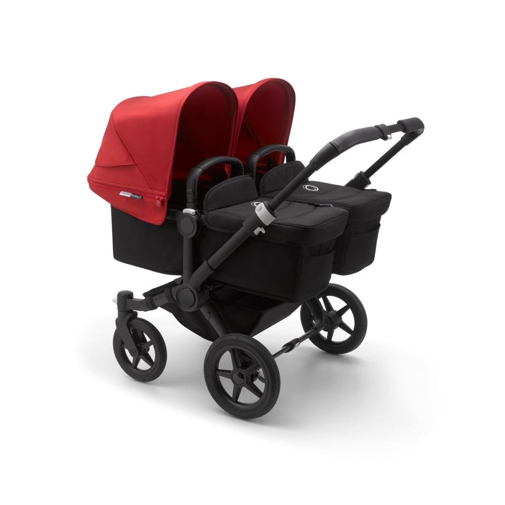 Bugaboo Donkey3 коляска 2 в 1 для двойни Twin Black/Black/Red