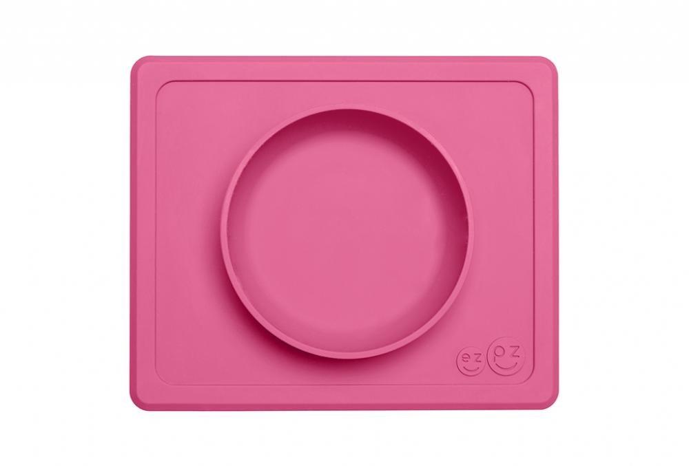 Ezpz тарелка с подставкой mini bowl packaged pink , розовый