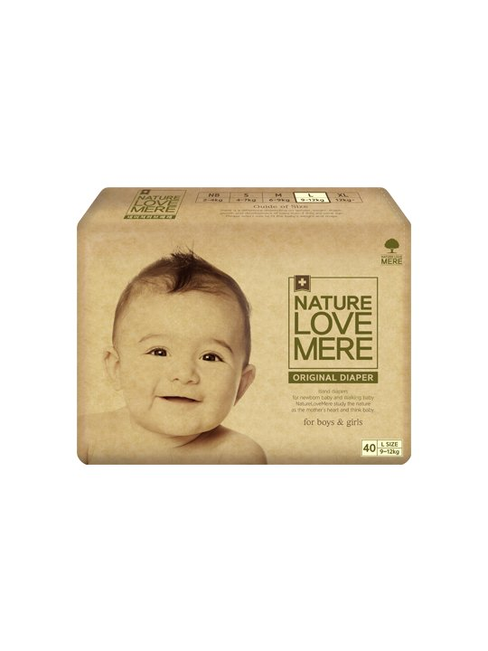 Nature Love Mere ORIGINAL BAsiC DIAPER подгузники L 9-12 кг, 40 шт.