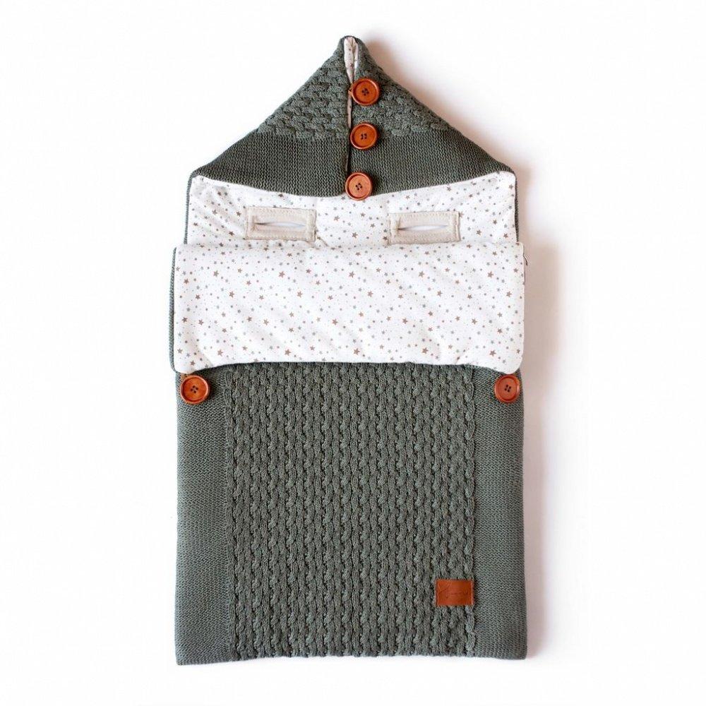 Loom вязаный конверт на выписку henry хаки (лето, 45x75, 100 грамм, от +5 до +25 с)