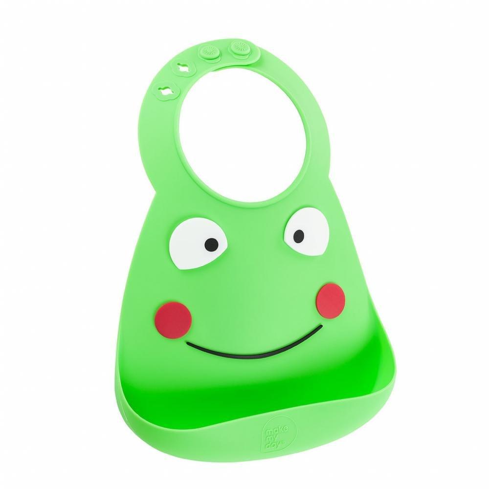 Make My Day Детский нагрудник, зеленый Frog