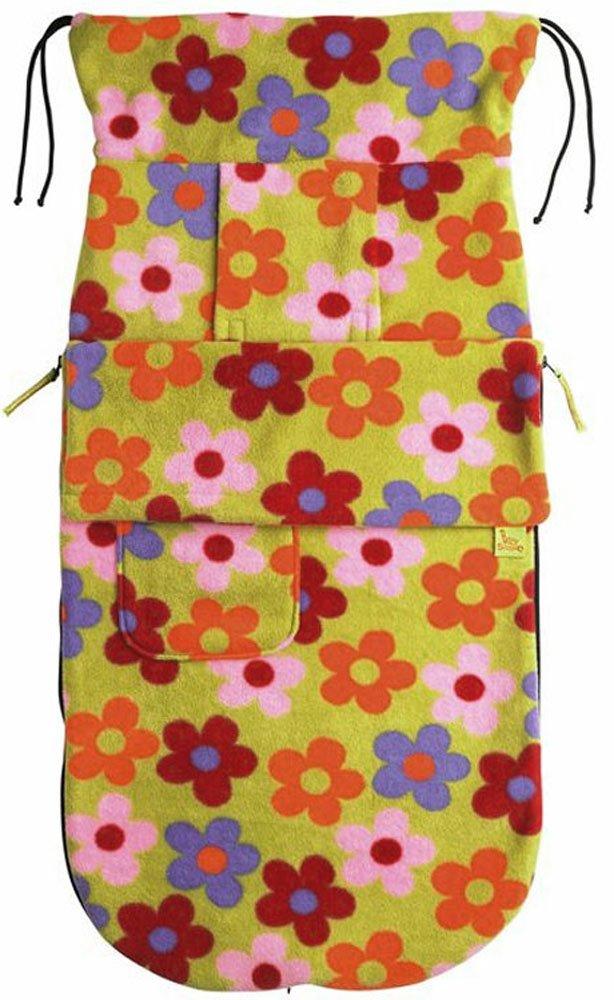 BUGGYSNUGGLE конверт для коляски флис Bright Flower (весна-осень)