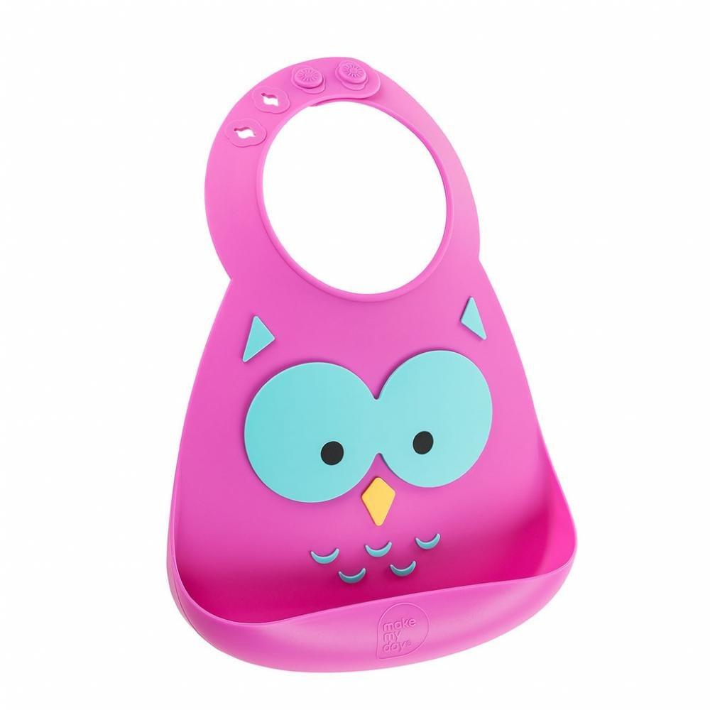 Make My Day Детский нагрудник, фиолетовый Owl