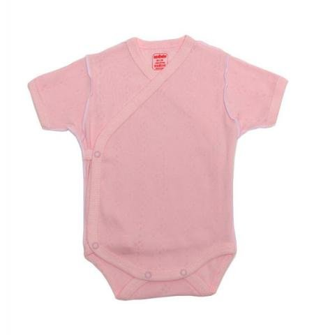 SEVI BABY боди-кимоно, ажурный трикотаж, розовое, 56 см.