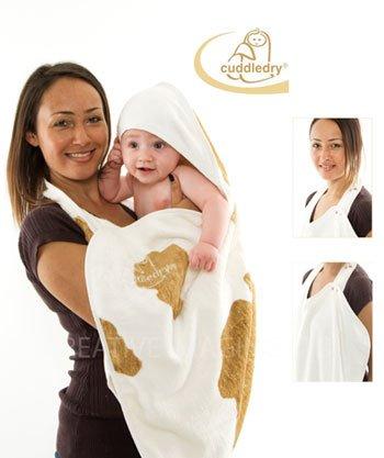 CUDDLEDRY простынка банная 70х140 см LUX для младенцев двойная МУУ 120122