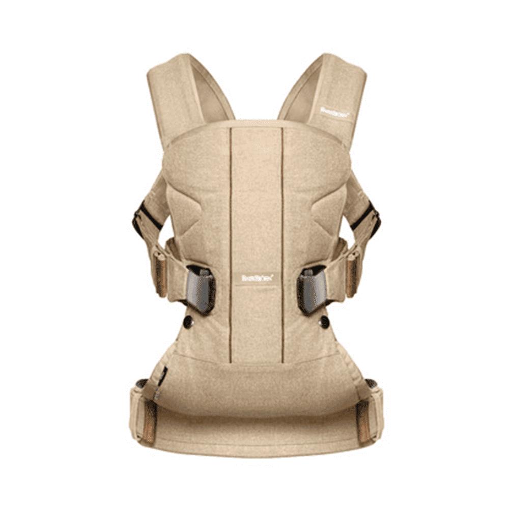 BABYBJORN рюкзак для переноски ребенка ONE Soft Cotton Mix бежевый