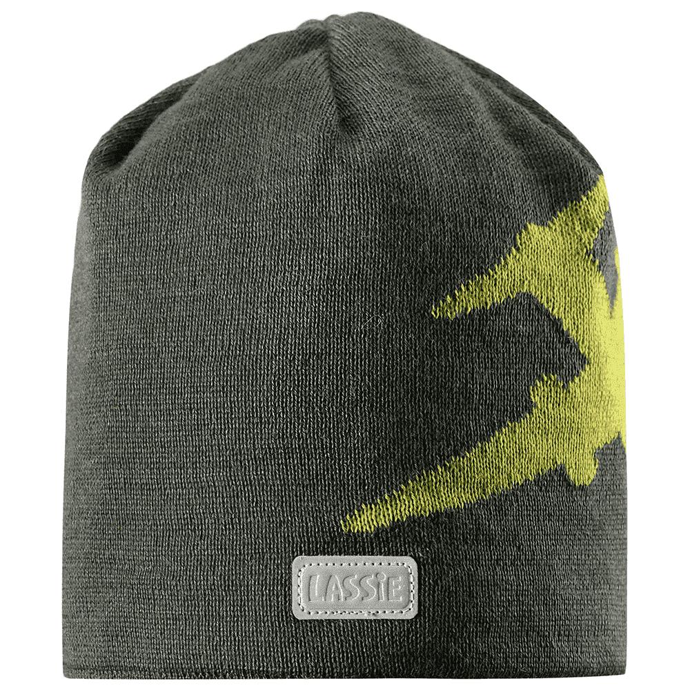 LASSIE шапка серая самолет р.S (46-48см)