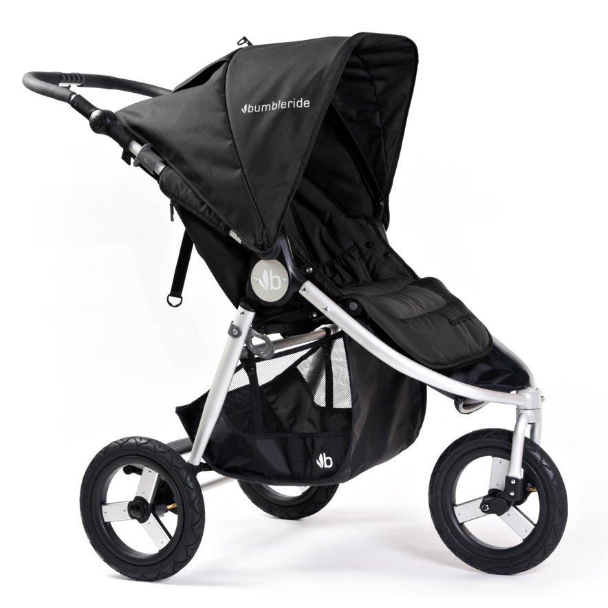 BUMBLERIDE прогулочная коляска INDIE Silver Black
