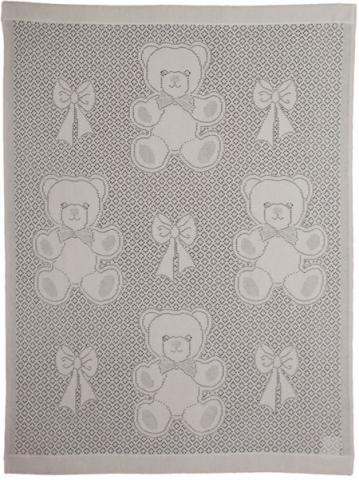 MYB плед Bear and Bows 76х102см слоновая кость (подарочная уп.) 839