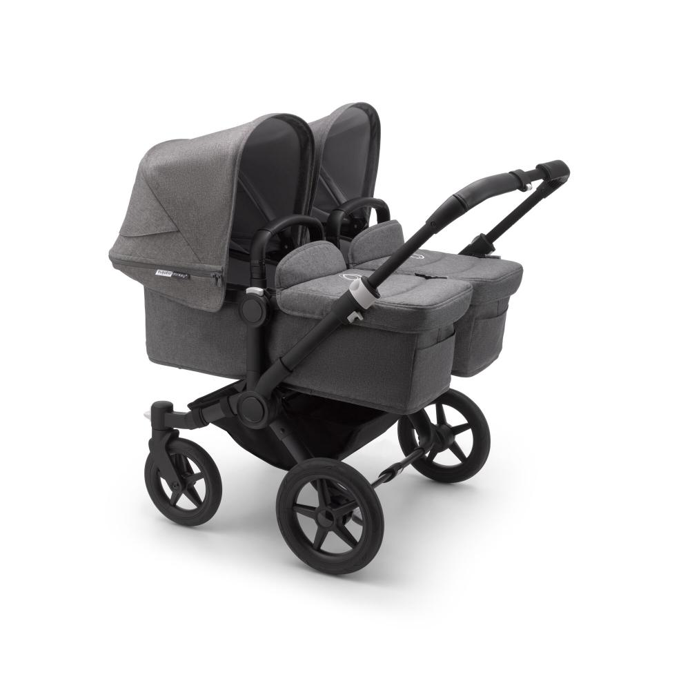 Bugaboo Donkey3 коляска 2 в 1 для двойни Twin Black/Grey Melange/Grey Melange