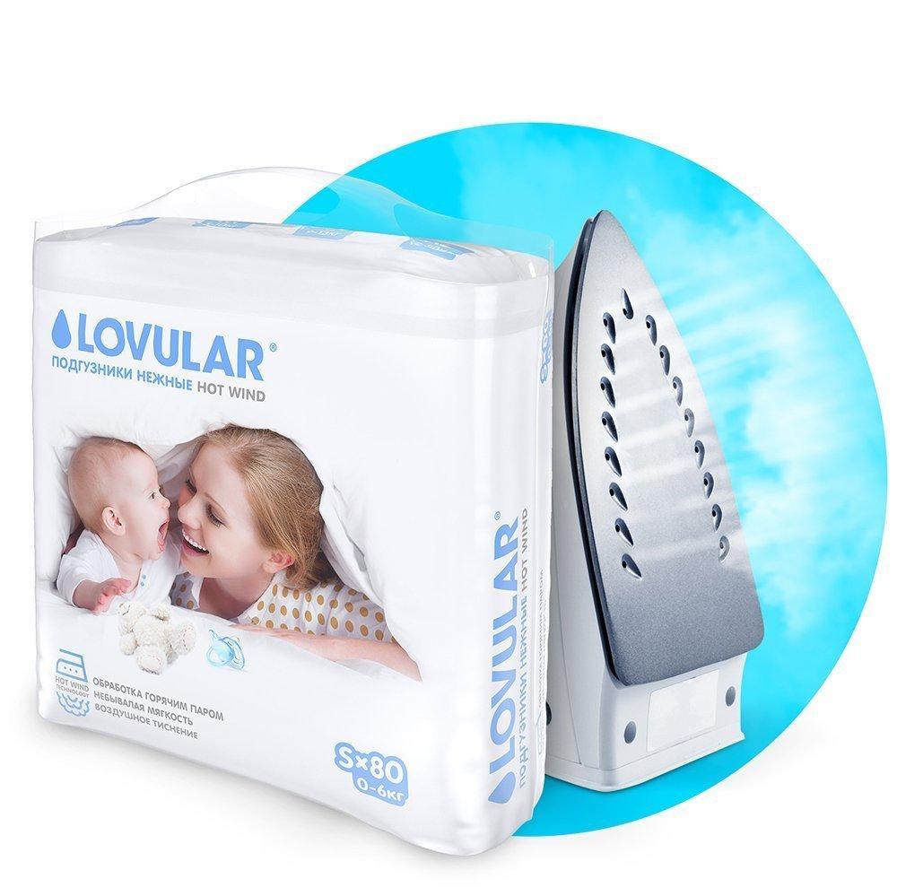 LOVULAR HOT WIND подгузники детские S(0-6 кг), 80 шт.
