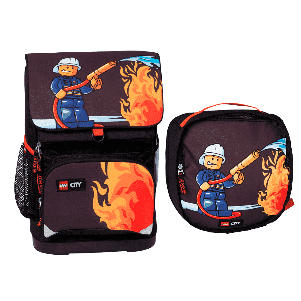 LEGO рюкзак с сумкой для обуви CITY FIRE 16021