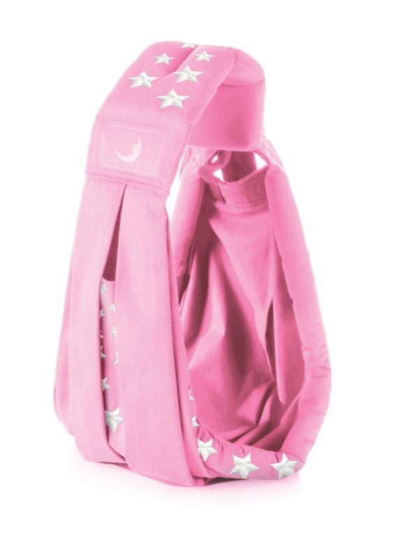 TheBABASLING переноска слинг КЛАССИК СуперСтар розовый Pink 0-24 мес.