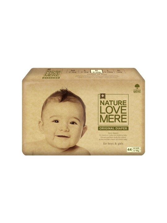 Nature Love Mere ORIGINAL BAsiC DIAPER подгузники M 6-9 кг, 44 шт.