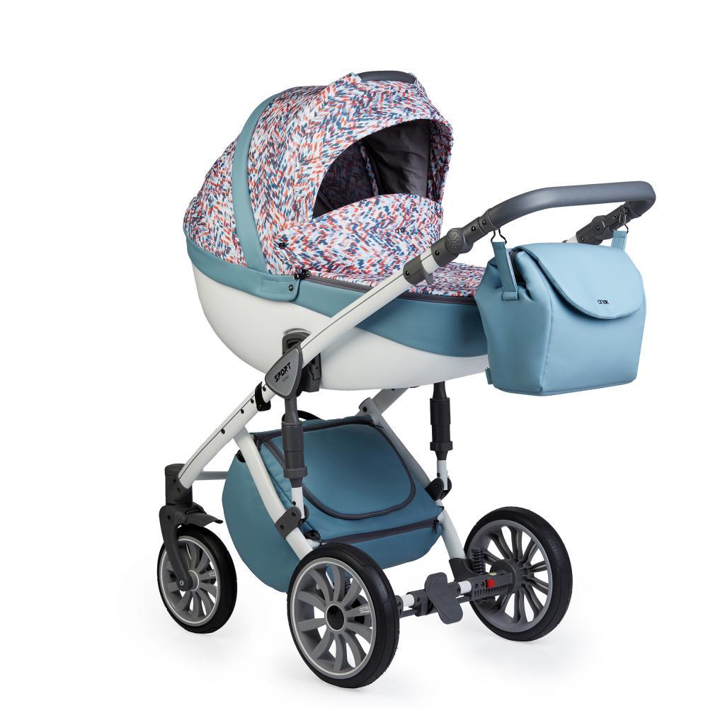 Купить Коляски для новорожденных, ANEX SPORT Коляска 3 в 1 Q1 (Ab06) wave