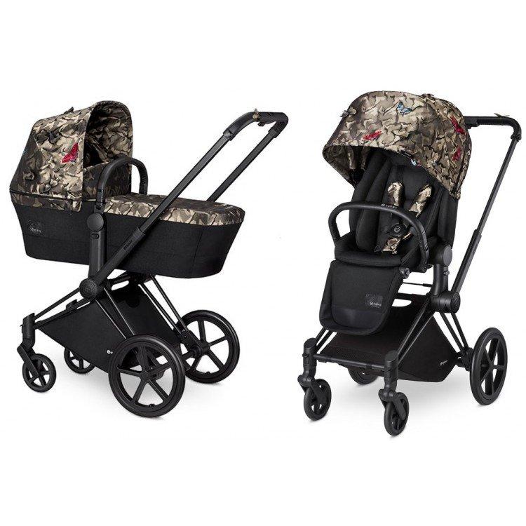 Купить Коляски для новорожденных, CYBEX Коляска 2 в 1 Priam Butterfly на шасси Chrome с колесами All Terrain