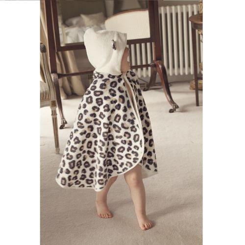 CUDDLEDRY накидка с капюшоном для малышей Снежный барс 121 334