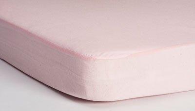 HIPPYCHICK простынь непромокаемая натяжная Tencel  60х120 см  (розовая)