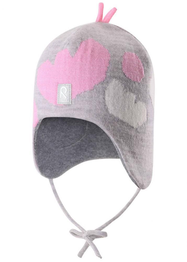 Шапки, варежки, перчатки, REIMA шапка шерстяная VATUKKA серая р.46  - купить со скидкой